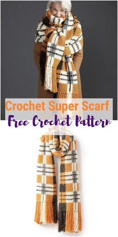 Crochet scarf patterns come in thousands of designs and styles, here you will find some the best free crochet scarf patterns that will keep you warm and give you a stylish look too at the same time. Scarf Free Crochet Scarf Patterns – All Free Patterns Boho Crochet, Crochet Socks, Crochet Scarves, Crochet Shawl, Crochet Yarn, Crochet Clothes, Doilies Crochet, Crochet Gratis, Free Crochet