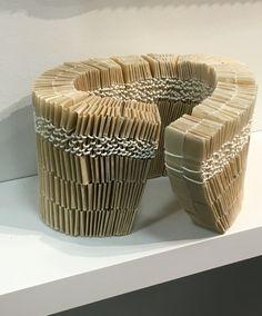 ART ON PAPER Fair - Mutsumi Iwasaki, Return Wind, Handmade paper, paper string, and wax. Nyc Art, Book Sculpture, Paper Paper, Art Fair, Galleries, Book Art, Wax, Layers, Artists