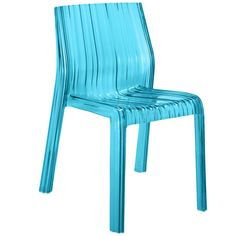 Kartell Frilly Chair - Turquoise ($250) ❤ liked on Polyvore featuring home, furniture, chairs, accent chairs, green, fabric chairs, green chair, colored chairs, kartell and kartell chairs