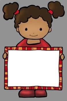 Kids With Signs 2 Clip Art by Whimsy Workshop Teaching Art For Kids, Crafts For Kids, All About Me Preschool, School Frame, Kids Background, School Clipart, Kindergarten Bulletin Boards, Writing Paper, Kids Education