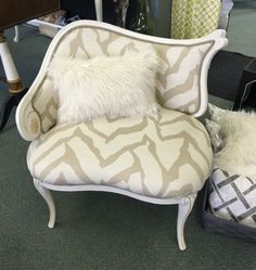 French Chair Redone By SuperChic Designs, Bay City MI