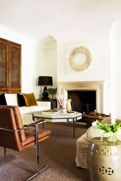 A mix of modern and traditional seating.