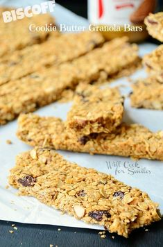 Cookie Butter Granola Bars and Granola   from willcookforsmiles.com   #cookiebutter #granola #snack