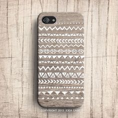 Hand Drawn Geometric Tribal Pattern Wood iPhone case by IdeaCase, $22.00