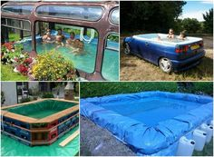 MAKESHIFT SWIMMING POOLS http://theownerbuildernetwork.co/ecbz Looking for an interesting, creative, or economical way to make your own swimming pool? Here are some cool ideas!