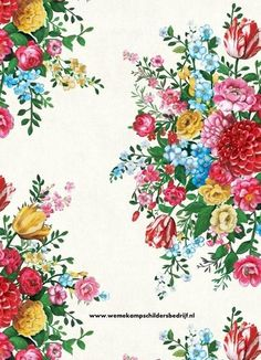 Pip 341040 Dutch Painters wit eijffinger pip studio behang vliesbehang bloemen www.wemekampschildersbedrijf.nl