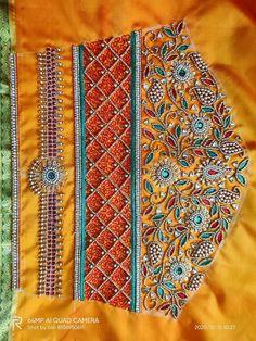 Blouse Designs Catalogue, New Blouse Designs, Hand Embroidery Design Patterns, Designer Blouse Patterns, Hand Work Blouse Design, Stylish Blouse Design, Wedding Saree Blouse Designs, Embroidered Blouse, Sleeve Designs