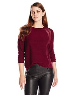 BCBGMAXAZRIA Women's Audri Sheer Opaque Pullover Sweater, Deep Cranberry, Medium BCBGMAXAZRIA http://www.amazon.com/dp/B00JUKOVGK/ref=cm_sw_r_pi_dp_rU-lub1K3MF66