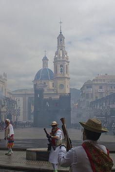 Fiesta de Moros y Cristianos -Plaza de España, Alcoy, Alicante