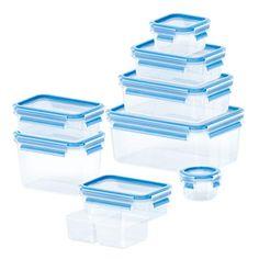 CLIP & CLOSE Frischhaltedosen, 9er-Set