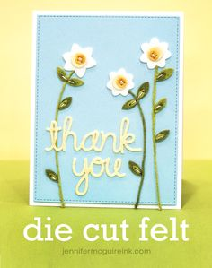 VIDEO: Die Cutting Felt + Discount Code + Giveaway | Jennifer McGuire Ink