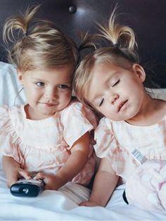 Cute Twins, Cute Babies, Baby Kids, Tatum And Oakley, Twin Girls, Cute Family, Cute Friends, Ladies Party, My Baby Girl