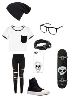 """Untitled #110"" by darksoul7 ❤ liked on Polyvore featuring New Look, Converse, Casetify, King Baby Studio, H&M and WithChic"