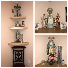The main altar in my home. In our Bedroom. Home altar ideas | room