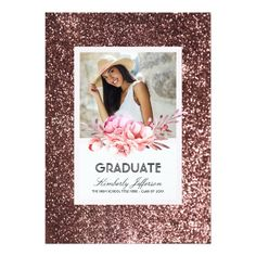 144 Best Pink Graduation Invitations Images In 2019 Invites