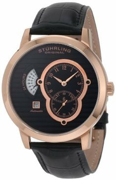 Stuhrling Original Men's 135A.33451 Symphony Eclipse II Automatic Date Watch Stuhrling Original. Save 60 Off!. $238.00. Water-resistant to 165 feet (50 M). Features a date at the eight o'clock position and 24 hour wheel. Quality automatic movement; functions without a battery; powers automatically with the movement of your arm. Krysterna scratch resistant crystal. 24-hour indication with hours, minutes, second-hand sub-dial and date complication