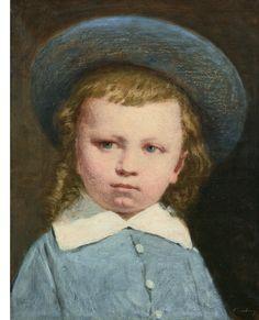"""Petit garçon au chapeau bleu"""" (musée Eugène Boudin, Honfleur)"""
