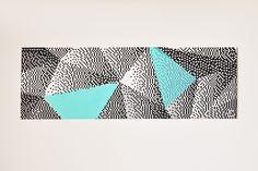 https://flic.kr/p/Gg5ptA | Triangolazioni  Acrilici su tela, 30x90cm