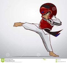 The gallery for --> Taekwondo Sparring Silhouette