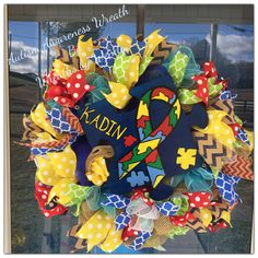 Autism Awareness Wreath                                                                                                                                                                                 More