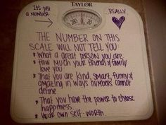 The scale does not define who you are!
