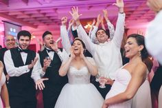 Guests dance during a wedding at the Inn at New Hyde Park. Captured by NYC wedding photographer Ben Lau.