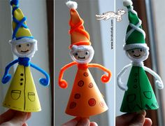 Wooden spoon characters - make for holiday theater play or to hang on trees Puppet Crafts, Doll Crafts, Cute Crafts, Craft Stick Crafts, Easy Crafts, Diy And Crafts, Crafts For Kids, Craft Ideas, Spoon Craft