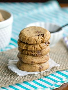 Nutella Stuffed Peanut Butter Cookies - This Gal Cooks #dessert