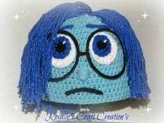 Crochet Hat Inside Out Sadness