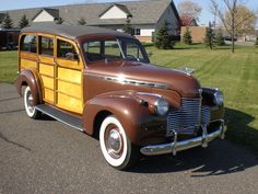 Chevrolet Woody station wagon 6 cylindres 1940.