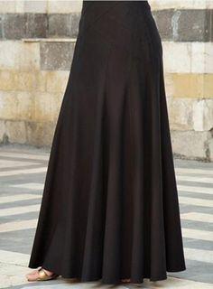 High Long Maxi Skirt – LUXTION Maxi Skirt Style, Long Skirt Outfits, Long Maxi Skirts, Flare Skirt, Dress Skirt, Mode Abaya, Mode Hijab, Modest Fashion, Fashion Dresses