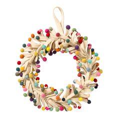 Corona de tiras de lana Navidad El Corte Inglés · Hogar · El Corte Inglés