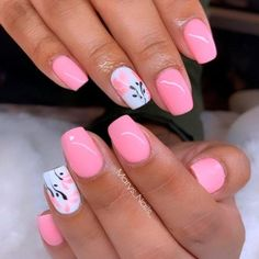 34 Pink And White Nails Trends For Spring And Summer 2020 - Short Light Pink Nails ★ There is so much more to pink and white nails than you have ever imagined! The versatility and elegance are granted. Would you dare having a look? Light Pink Nails, Green Nails, White Nails, Acrylic Nail Designs, Nail Art Designs, Nails Design, Acrylic Nails, Nail Deco, Pretty Nail Art