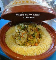 AJOBLANCO: Cous Cous de verduras y pollo