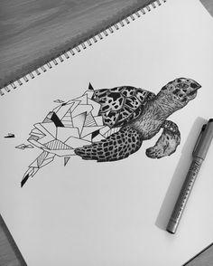 Hawksbill Turtle // A3 - Pen
