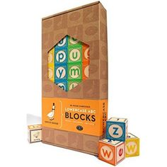 Beautifully crafted from sustainable basswood, these gorgeous Lowercase ABC Blocks from Uncle Goose feature baby animals, numbers and the alphabet, supporting your little one at various different levels of their development. Dilly Dally, All Block, Kids Blocks, Alphabet Blocks, Novelty Gifts, Toy Store, Lower Case Letters, Lowercase A, Little Ones