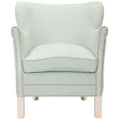 Class and comfort come together in the Posh Robins Egg Blue Arm Chair. Upholstered in Robin's Egg blue polyester and standing on solid birchwood legs, the chair is sure to add a transitional look to any decor.