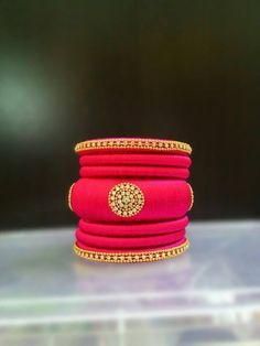 Pink Designer Bangle Set