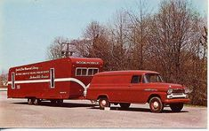 1956 Panel truck and trailer