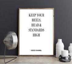 Chanel Poster, Chanel Druck, Chanel Zitat, Chanel druckbares Poster, Chanel Artprint, Chanel Digitaler Print, Chanel Kunstdruck von FineArtHunter auf Etsy