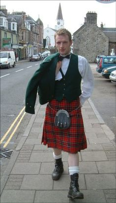 """Anything Tartan, no he doesn't come with the kilt.  House of Tartan can make you a skirt/kilt in any plaid/tartan you like, terrific if you have a """"Clan."""""""