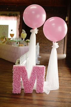 Ling's moment Giant Pink Balloons + Paper Tassel Tail Garland Banner for Wedding Bridal Shower Baby Shower Birthday (gold+pink+white) Pink Balloons, Wedding Balloons, Baby Shower Balloons, Ballons With Tulle, Balloon Balloon, Balloon Party, Balloon Ideas, Balloon Garland, Birthday Decorations