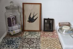junkaholique: bits of our new (first) house - vintage tiles