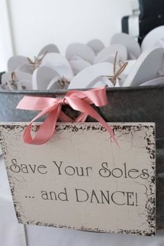 What a great idea!!!!   gifts for guests when they don't want to wear their heels all night!