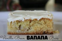 Vanilla Bean Banana Bar