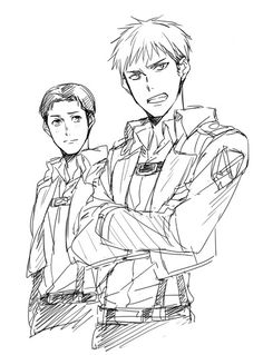 Shingeki no Kyojin Marco and Jean