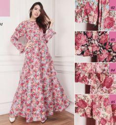 model gamis-katun-jepang-motif-bunga-g1095-cantik-edisi-november-2016-2017