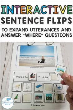 Interactive Animals Sentence Flips Speech Therapy Activity for Expanding Utterances, Asking Questions, and Answering Questions, increase MLU for preschoolers with autism or language delays, ABA therapy, English Language Learners #speechtherapy #specialedu Autism Classroom, Special Education Classroom, Classroom Ideas, Sentence Writing, Speech Language Pathology, Speech And Language, Preschool Speech Therapy