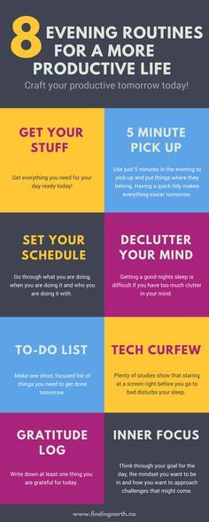 Evening routine - craft your productive tomorrow today