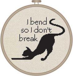 Yoga Cat Cross Stitch Pattern by DJStitches on Etsy